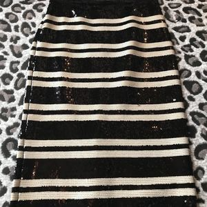Alice and Olivia Sequin Skirt
